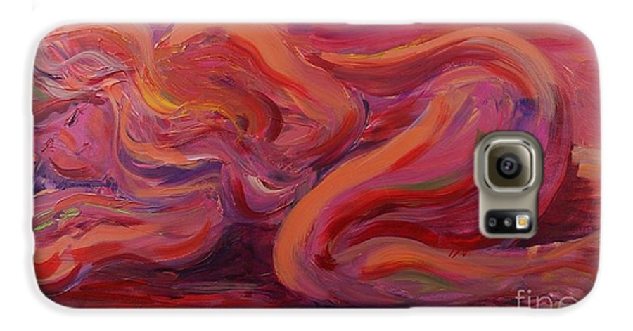 Nude Galaxy S6 Case featuring the painting Beauty by Nadine Rippelmeyer