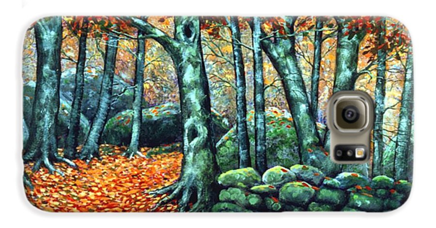 Landscape Galaxy S6 Case featuring the painting Beech Woods by Frank Wilson