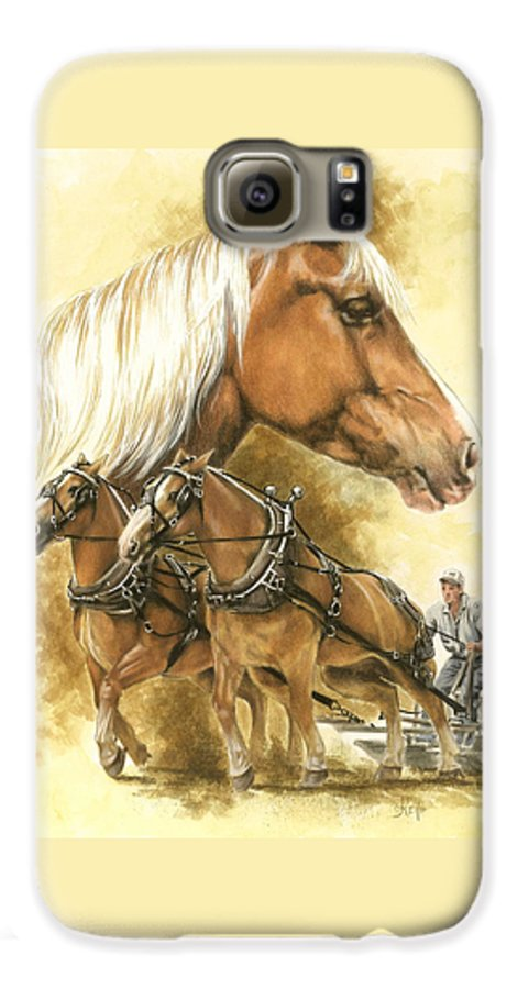 Equus Galaxy S6 Case featuring the mixed media Belgian by Barbara Keith