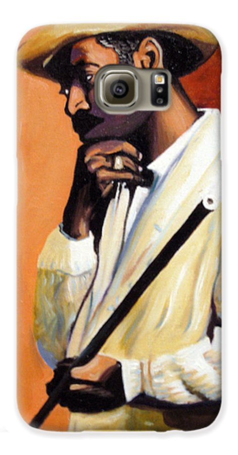 Cuban Art Galaxy S6 Case featuring the painting Benny 2 by Jose Manuel Abraham
