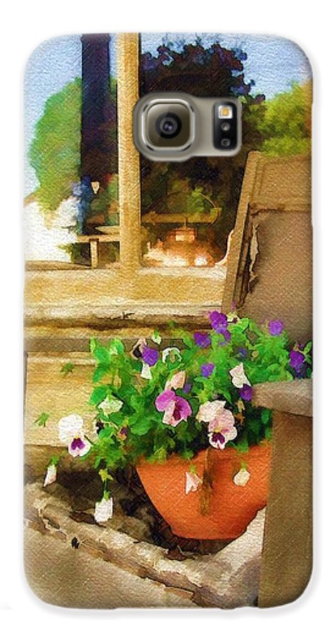 Pansies Galaxy S6 Case featuring the photograph Best Seat In The House by Sandy MacGowan