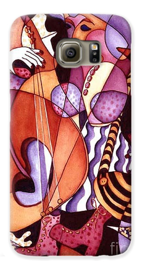 Whimsical Galaxy S6 Case featuring the painting Big Bertha by Arleen Barton