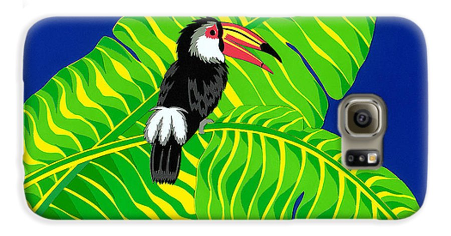 Nature Galaxy S6 Case featuring the drawing Big Billed Bird by Lucyna A M Green