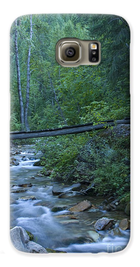 Creek Galaxy S6 Case featuring the photograph Big Creek Bridge by Idaho Scenic Images Linda Lantzy