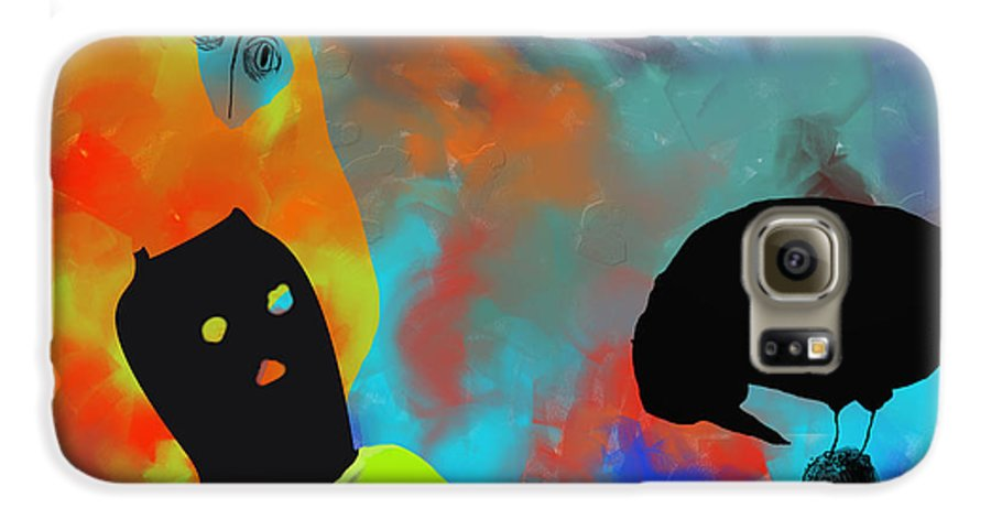 Nature Galaxy S6 Case featuring the painting Bird Flu by Ann Tracy