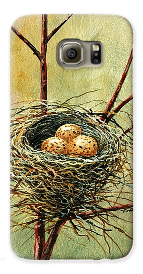 Still Life Galaxy S6 Case featuring the painting Bird Nest by Frank Wilson