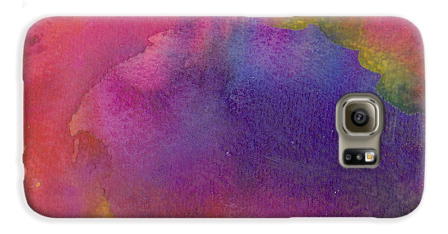 Red Galaxy S6 Case featuring the painting Birth by Christina Rahm Galanis
