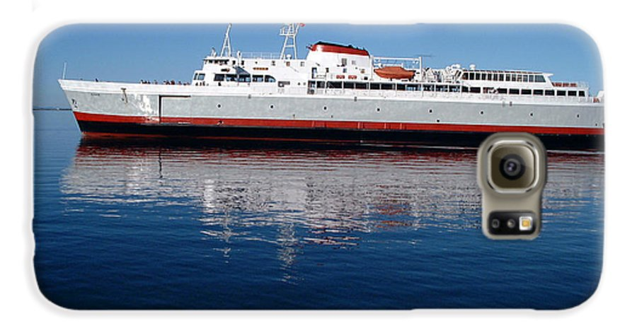 Boat Galaxy S6 Case featuring the photograph Black Ball Ferry by Larry Keahey