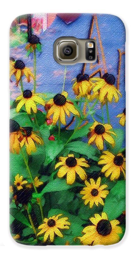 Flowers Galaxy S6 Case featuring the photograph Black-eyed Susans At The Bag Factory by Sandy MacGowan