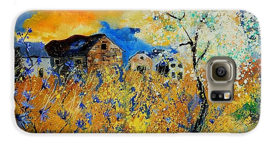 Poppies Galaxy S6 Case featuring the painting Blooming Trees by Pol Ledent