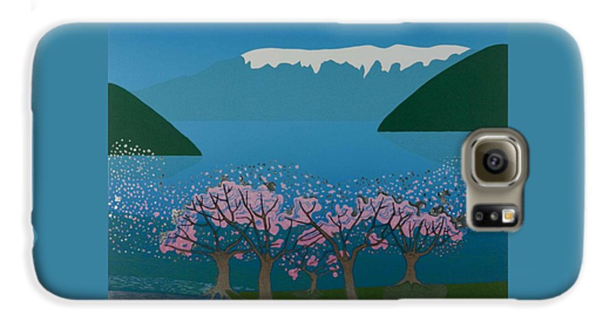 Landscape Galaxy S6 Case featuring the mixed media Blossom In The Hardanger Fjord by Jarle Rosseland