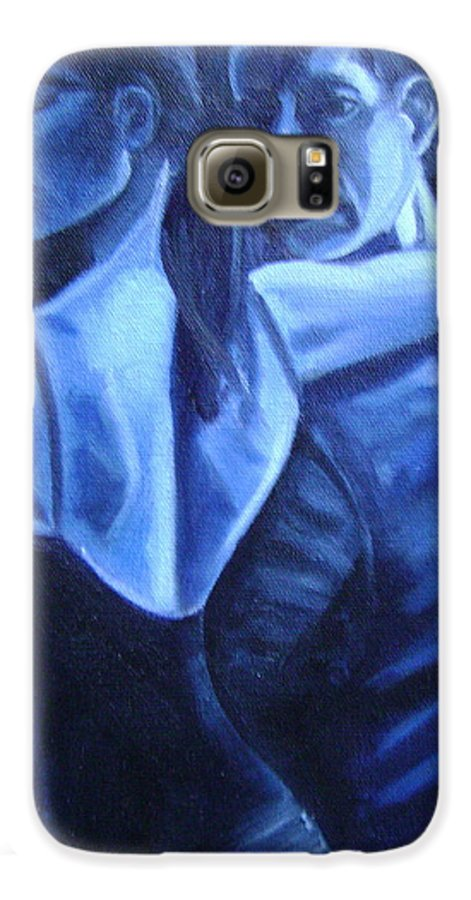 Galaxy S6 Case featuring the painting Bludance by Toni Berry