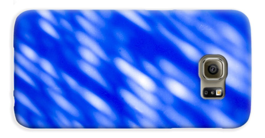 Abstract Galaxy S6 Case featuring the photograph Blue Abstract 1 by Tony Cordoza
