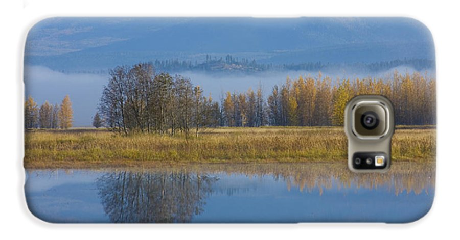 Blue Galaxy S6 Case featuring the photograph Blue And Gold by Idaho Scenic Images Linda Lantzy