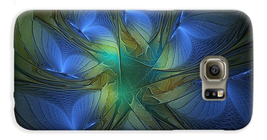 Digital Art Galaxy S6 Case featuring the digital art Blue Butterflies by Amanda Moore
