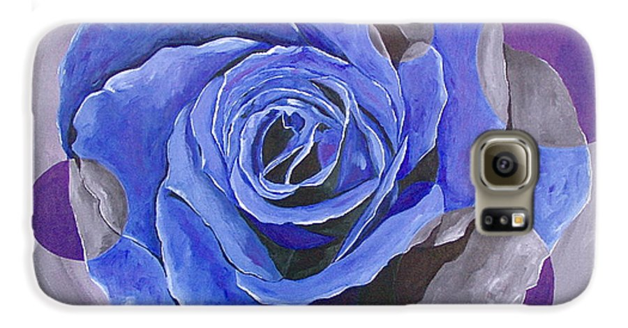 Acrylic Galaxy S6 Case featuring the painting Blue Ice by Herschel Fall