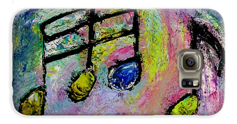 Impressionist Galaxy S6 Case featuring the painting Blue Note by Anita Burgermeister