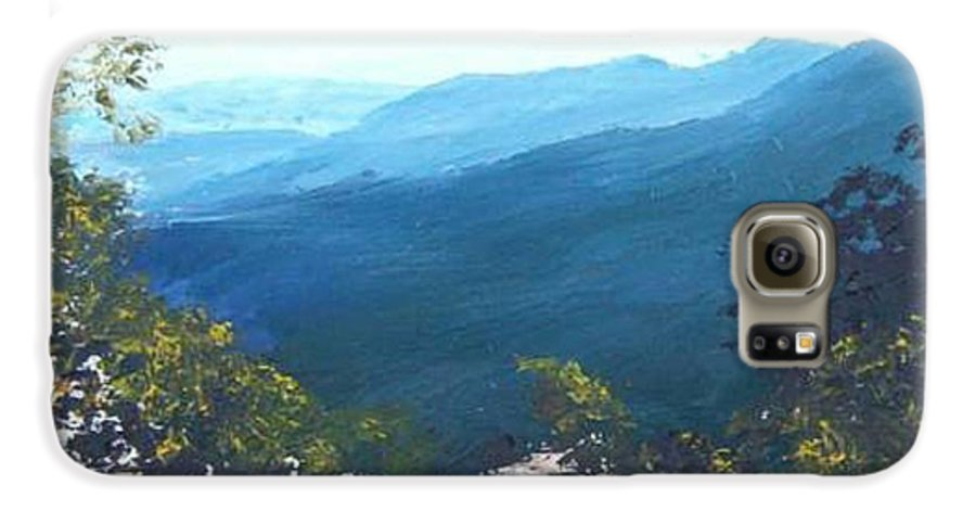 Landscape Galaxy S6 Case featuring the painting Blue Ridge by Tami Booher