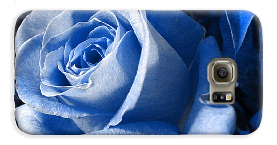 Blue Galaxy S6 Case featuring the photograph Blue Rose by Shelley Jones