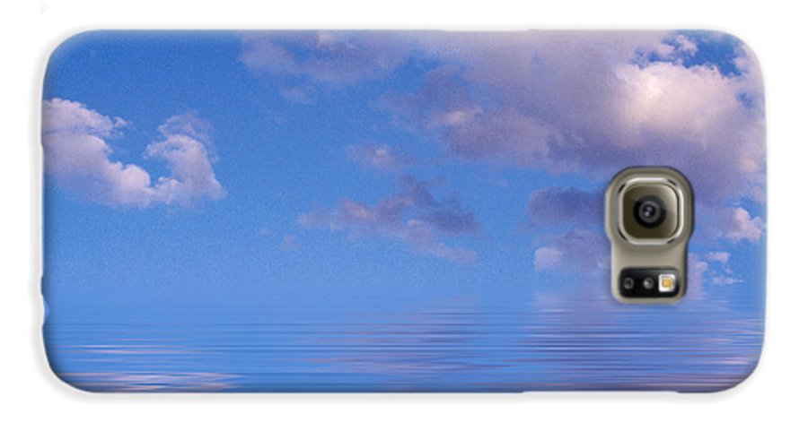 Original Art Galaxy S6 Case featuring the photograph Blue Sky Reflections by Jerry McElroy
