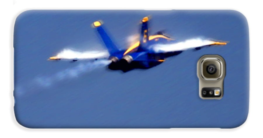 Blue Angles Galaxy S6 Case featuring the photograph Blue Solo by Larry Keahey