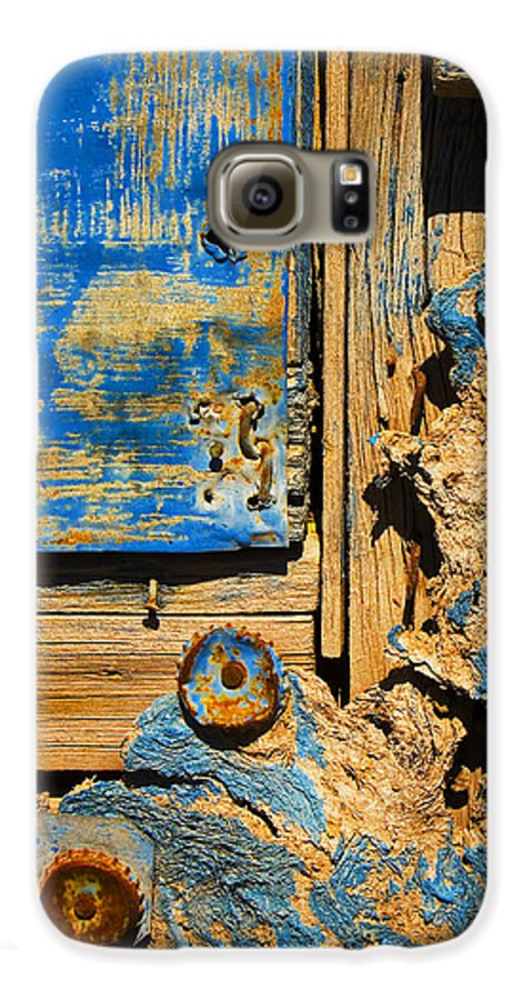 Abstract Galaxy S6 Case featuring the photograph Blues Dues by Skip Hunt