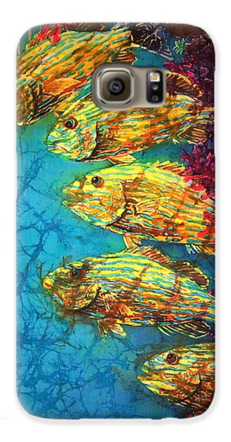 Bluestriped Grunts Galaxy S6 Case featuring the painting Bluestriped Grunts by Sue Duda