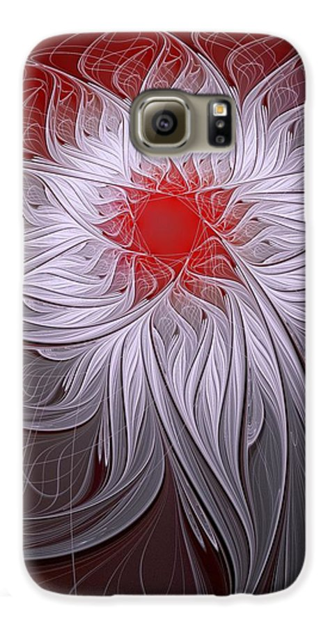 Digital Art Galaxy S6 Case featuring the digital art Blush by Amanda Moore