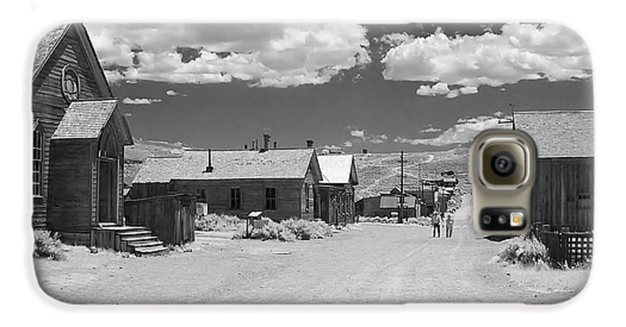 Ghost Town Galaxy S6 Case featuring the photograph Bodie A Ghost Town Infrared by Christine Till