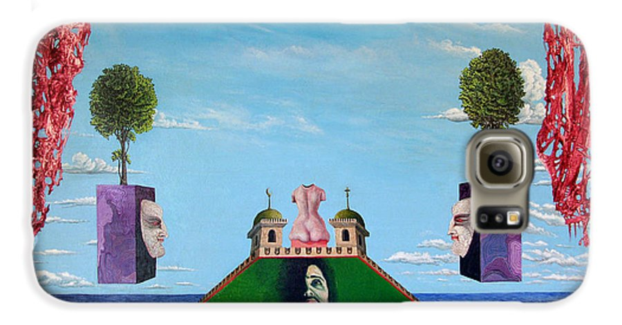 Painting Galaxy S6 Case featuring the painting Bogomils Monastic Retreat by Otto Rapp