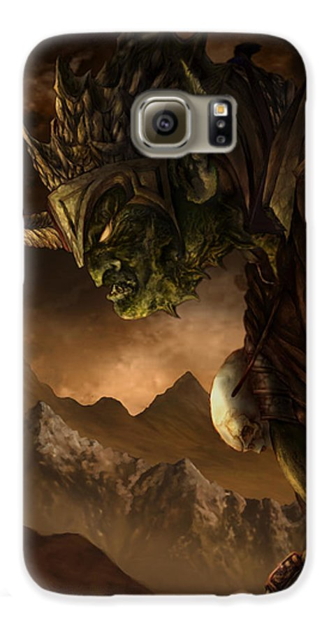 Goblin Galaxy S6 Case featuring the mixed media Bolg The Goblin King by Curtiss Shaffer