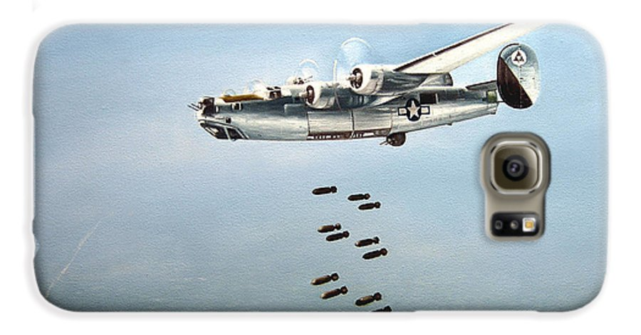 Aviation Galaxy S6 Case featuring the painting Bombs Away by Marc Stewart