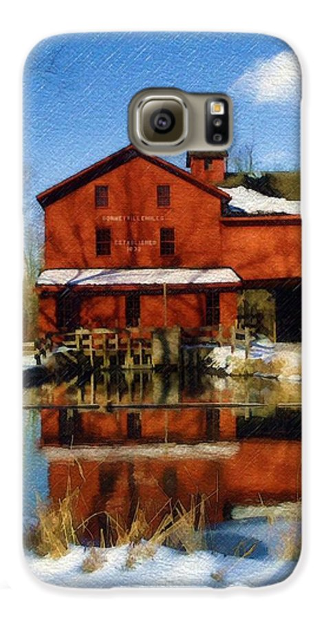 Bonneyville Mill Galaxy S6 Case featuring the photograph Bonneyville In Winter by Sandy MacGowan