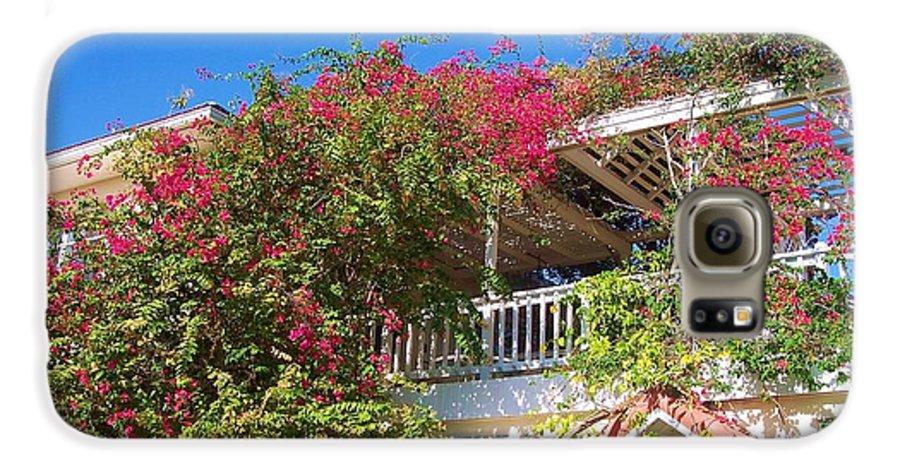 Flowers Galaxy S6 Case featuring the photograph Bougainvillea Villa by Debbi Granruth