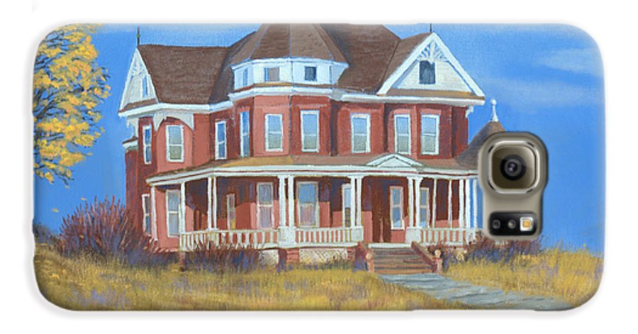 Boulder Galaxy S6 Case featuring the painting Boulder Victorian by Jerry McElroy
