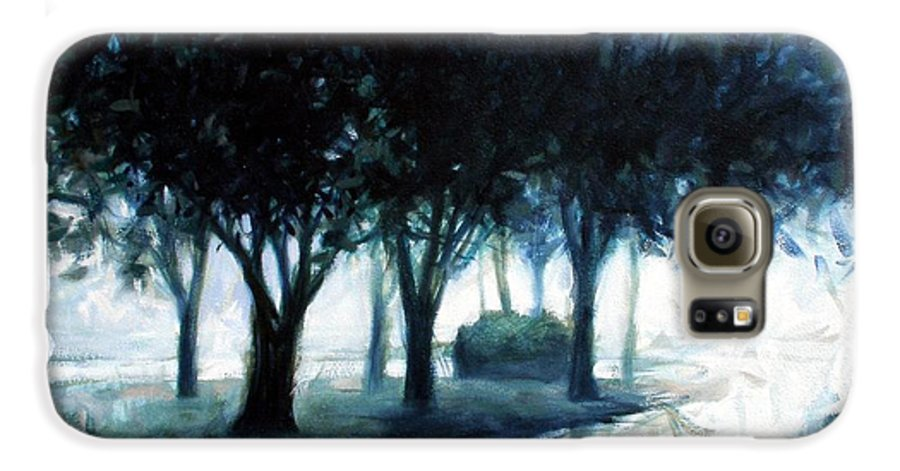 City Scape Galaxy S6 Case featuring the painting Boulevard by Kevin Lawrence Leveque