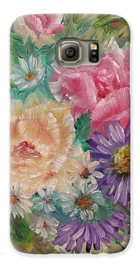 Rose Galaxy S6 Case featuring the painting Bouquet 2 by Quwatha Valentine