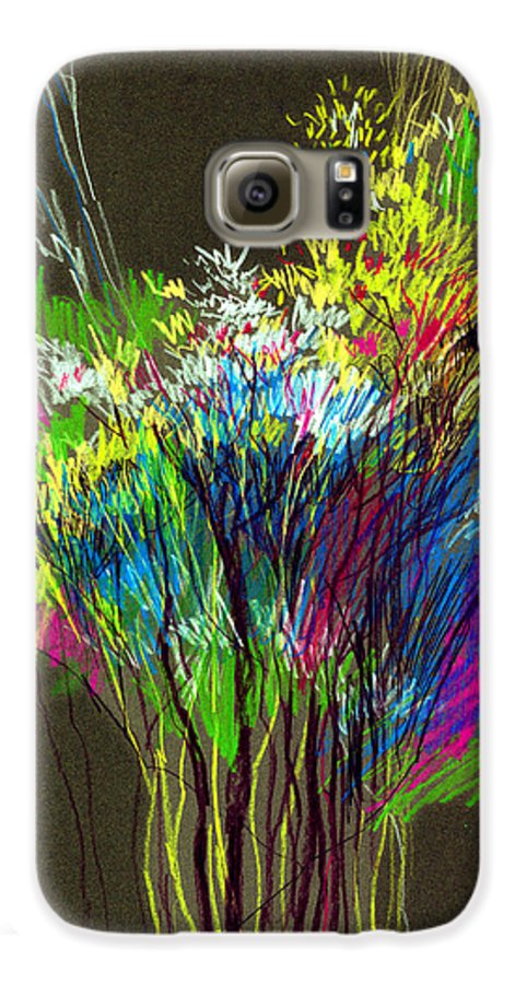 Flowers Galaxy S6 Case featuring the painting Bouquet by Anil Nene