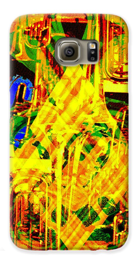 Festive Galaxy S6 Case featuring the digital art Brass Attack by Seth Weaver