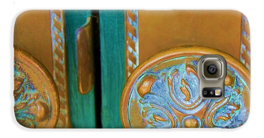 Door Galaxy S6 Case featuring the photograph Brass Is Green by Debbi Granruth