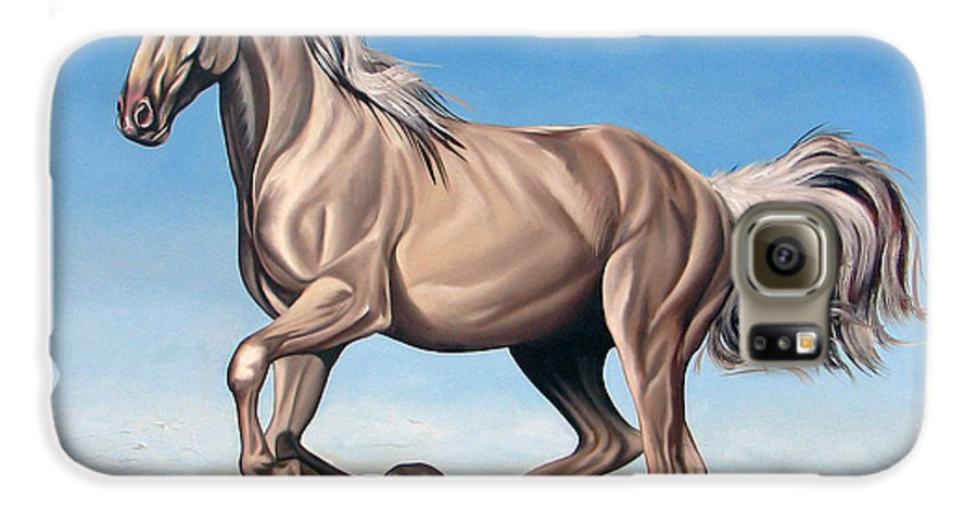 Horse Galaxy S6 Case featuring the painting Breeze by Ilse Kleyn