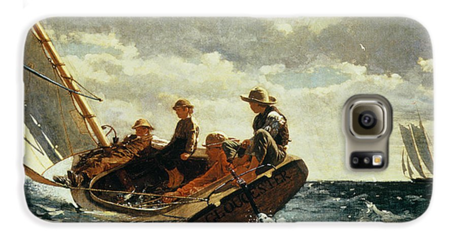 Breezing Up (a Fair Wind) 1873-76 (oil On Canvas) By Winslow Homer (1836-1910)boat Galaxy S6 Case featuring the painting Breezing Up by Winslow Homer
