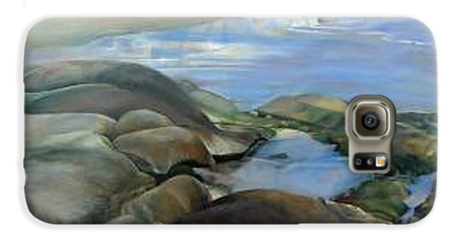 Paysage Galaxy S6 Case featuring the painting Bretagne 1 by Muriel Dolemieux