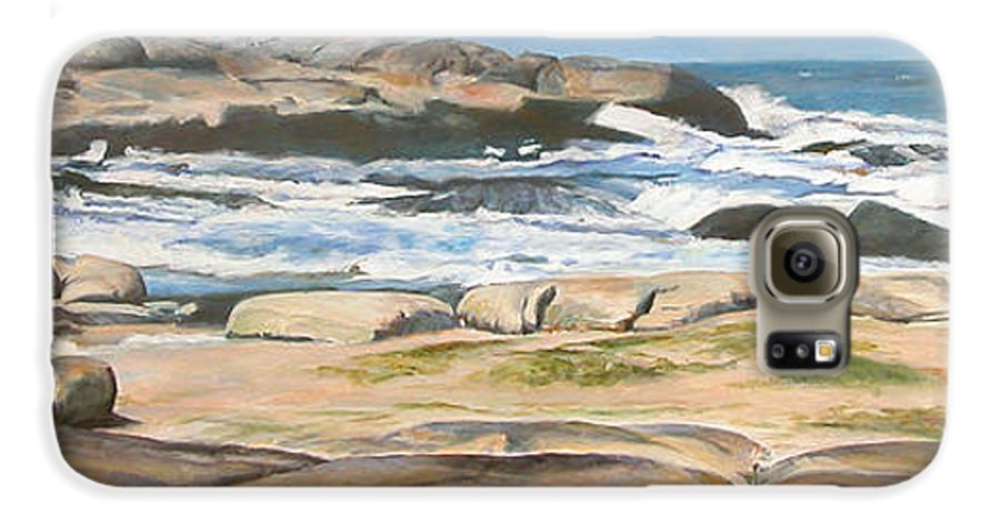 Paysage Galaxy S6 Case featuring the painting Bretagne 2 by Muriel Dolemieux