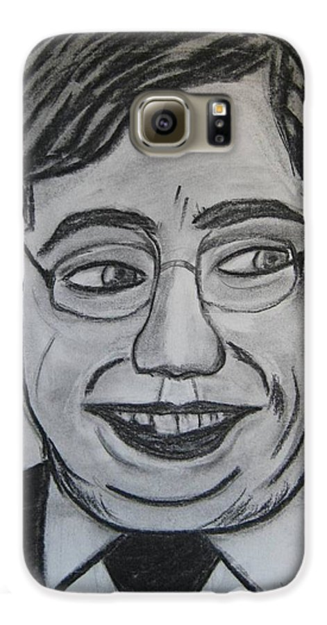 Art Artroger Roger Cummiskey Charcoal Galaxy S6 Case featuring the painting Brian Cowan by Roger Cummiskey