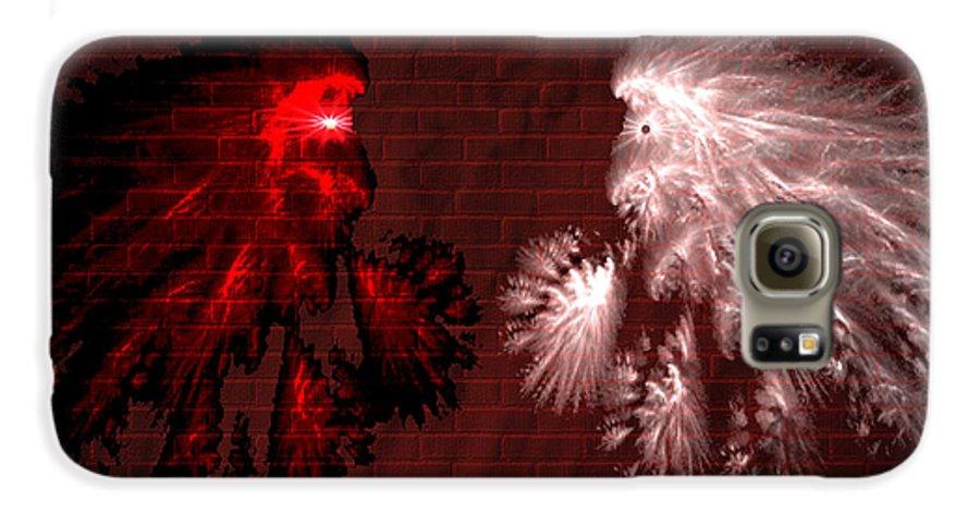 War Galaxy S6 Case featuring the digital art Brick Graffiti by Evelyn Patrick
