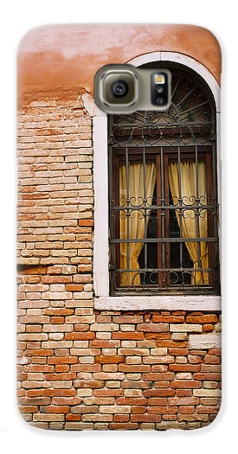 Window Galaxy S6 Case featuring the photograph Brick Window by Kathy Schumann