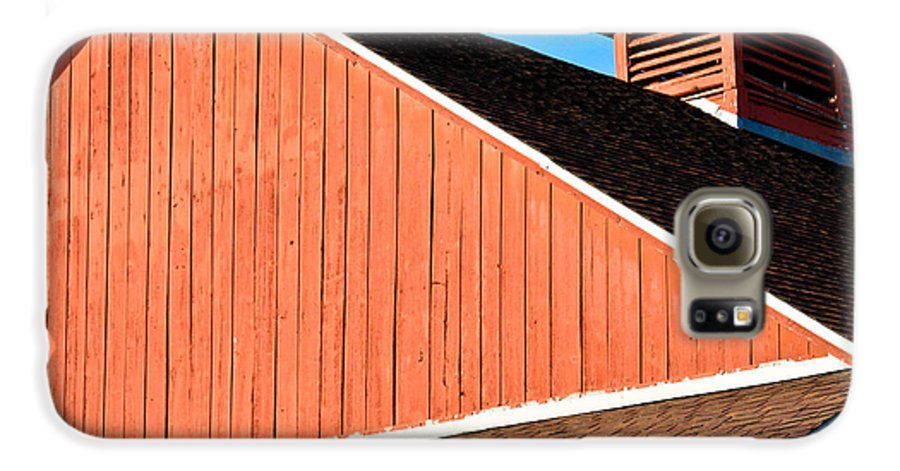 Americana Galaxy S6 Case featuring the photograph Bright Red Barn by Marilyn Hunt