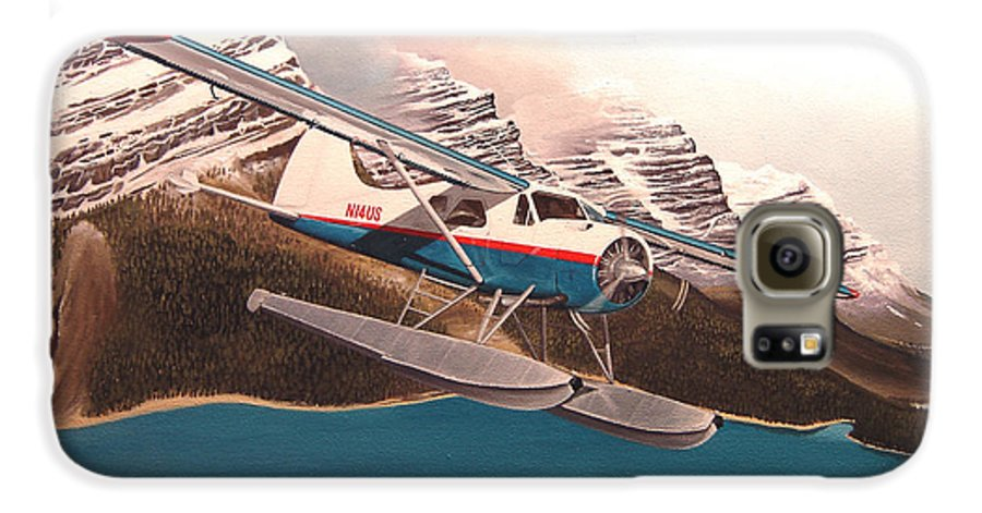 Aviation Galaxy S6 Case featuring the painting Bringing Home The Groceries by Marc Stewart