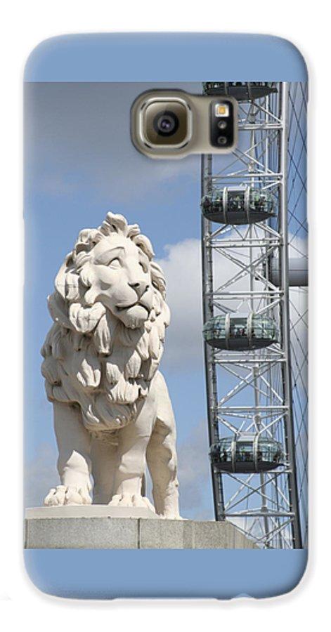 Lion Galaxy S6 Case featuring the photograph Britannia Lion by Margie Wildblood